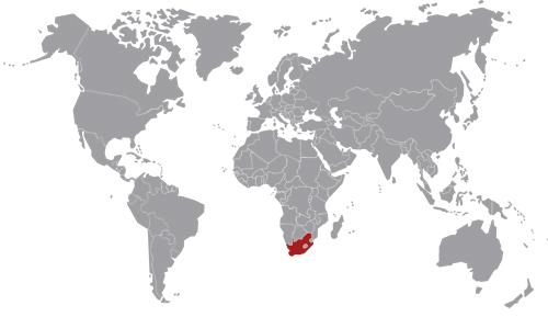 mappa Sud Africa